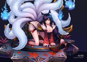 LOL girls-Ahri by Ragnarok026