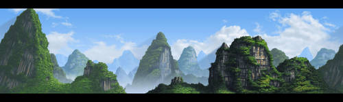 Chinese Landscape 02 by donjapy2011
