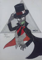 Sad First Attempt at Black Hat by BlackZodiacQueen