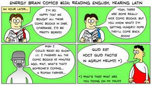 EBC #114: Reading English, Hearing Latin by EnergyBrainComics