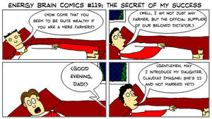 Energy Brain Comics #119: The Secret Of My Success by EnergyBrainComics