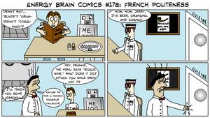 Energy Brain Comics #178: French Politeness by EnergyBrainComics