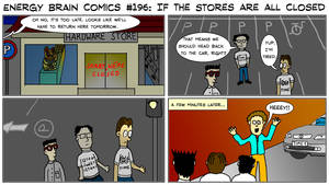 EBC #196: If The Stores Are All Closed by EnergyBrainComics