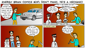 EBC #197: Don't Panic, He's A Mechanic! by EnergyBrainComics