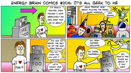 Energy Brain Comics #206: It's All Geek To Me by EnergyBrainComics
