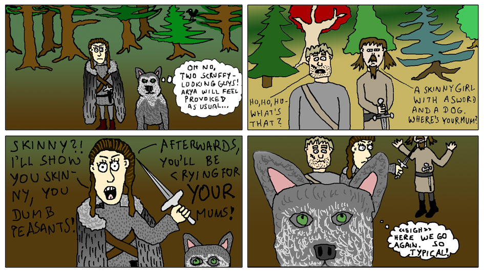 Arya And Nymeria by EnergyBrainComics