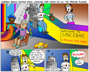 EBC #216: Looking For Food In All The Wrong Places by EnergyBrainComics