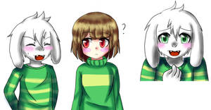 Some blushing Asriel by Cleanne-chan