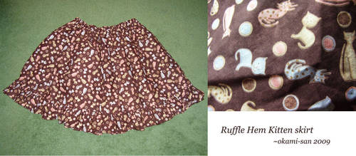 Ruffle Hem Kitten Skirt by okami-san