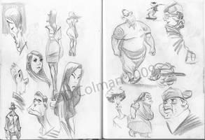 Sketchbook Stuffs 6 by davidsdoodles