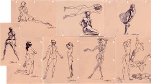 recent figure studies_pen by davidsdoodles