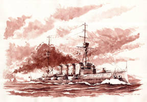 HMS Warrior by Radomski