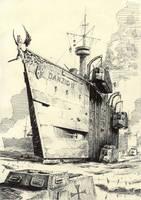 Scribbles #8 (Landcruiser) by Radomski