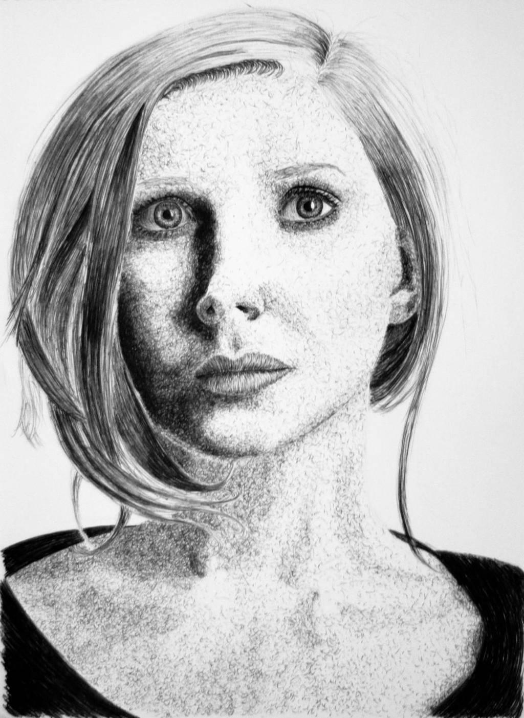 Biro portrait by Samtheengineer