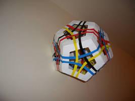 Skeletal Dodecahedron + Rings by Samtheengineer