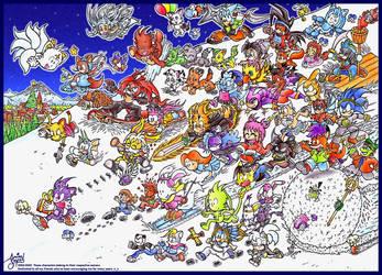 Christmas Friends 2004 by NekoAmine