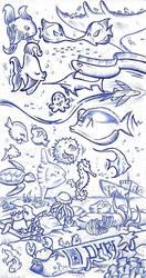 Inktober 2017 4: Underwater by NekoAmine