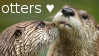 Otter Love Stamp by SuperGrouper