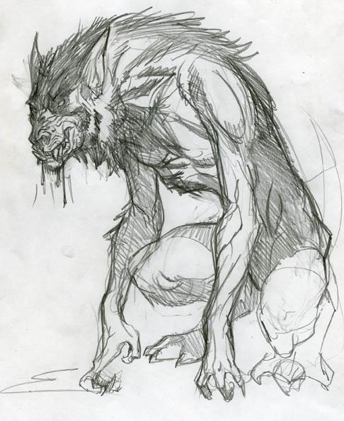 Werewolf Sketch by rayquazarider on DeviantArt
