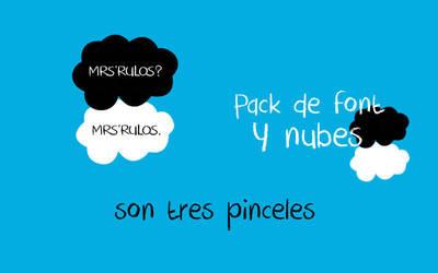 Pack de pinceles y font by Mrsrulos