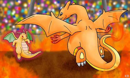 Classic Dragon Battle by Chari-Artist