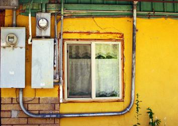 Yellow Window by moonmandala