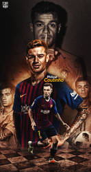 PHILLPE COUTINHO WALLPAPER FCB 2018|17 by 10mohamedmahmoud