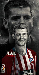 alvaro morata wallpaper lockscreen atletico madrid by 10mohamedmahmoud