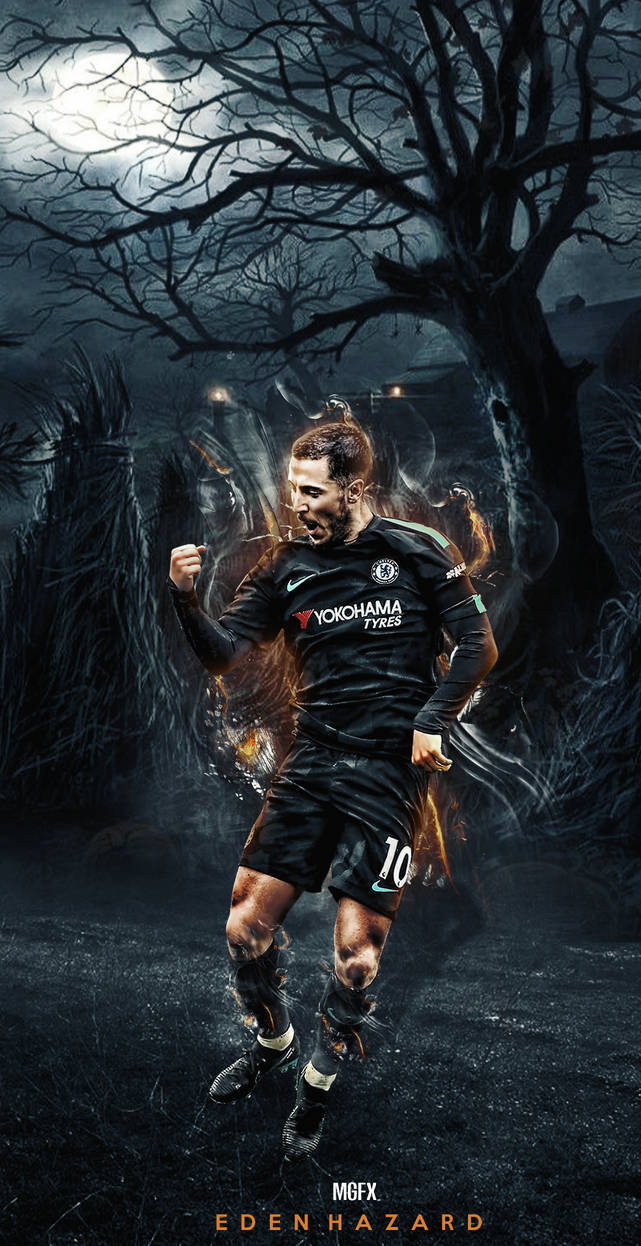 eden hazard wallpaper new kit 2018|19 by 10mohamedmahmoud