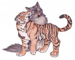 Tiger Wolf 2 by Mizu-Wolf