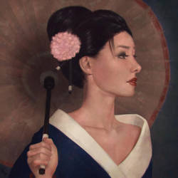 Geisha Painting 6 Day #258 by AngelGanev