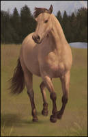 Horsey Painting 11 Day #305 by AngelGanev