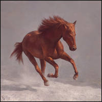 Horsey Painting 14 Day #308 by AngelGanev