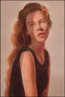 Dope Lighting Portrait Painting 5 Day #362 by AngelGanev