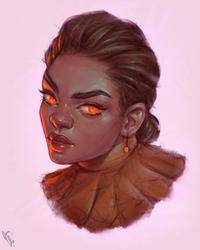 Nomi - Portrait Vignette VI #230 by AngelGanev