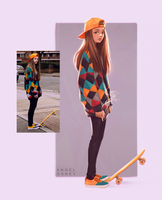 Skater Gurl - Day #364 by AngelGanev