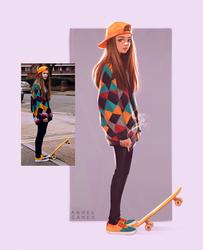 Skater Gurl - Day #364 by AngelGanev