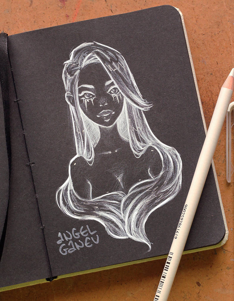 Black Sketchbook Page 2 by AngelGanev
