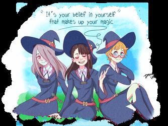 Little Witch Academia Dynamic Trio by Haru-kiiro-no-kesaki