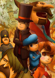 Layton and the Curious Village by Ry-Spirit