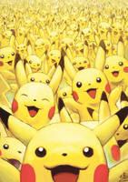 Wild Pikachus Appear by Ry-Spirit