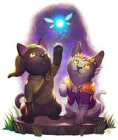 Link and Zelda by Ry-Spirit