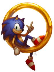 Sonic the Hedgehog by Ry-Spirit