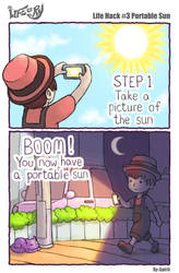 Life of Ry - Life Hack #3 Portable Sun by Ry-Spirit