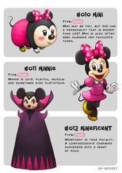 #010 Mimi - #011 Minnie - #012 Mineficent by Ry-Spirit