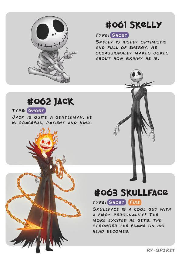#061 Skelly - #062 Jack - #063 Skullface by Ry-Spirit
