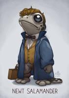 Newt Salamander by Ry-Spirit