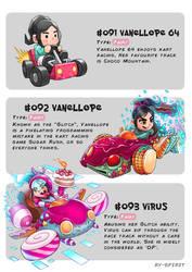 #091 Vanellope 64 - #092 Vanellope - #093 Virus by Ry-Spirit