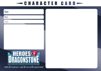 Character Card Template (Blue Steel) by Ry-Spirit