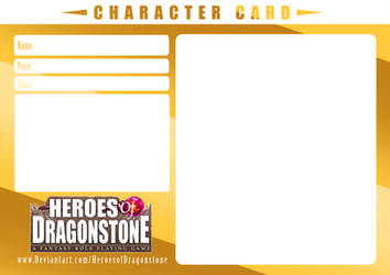 Character Card Template (Gold-Plated) by Ry-Spirit